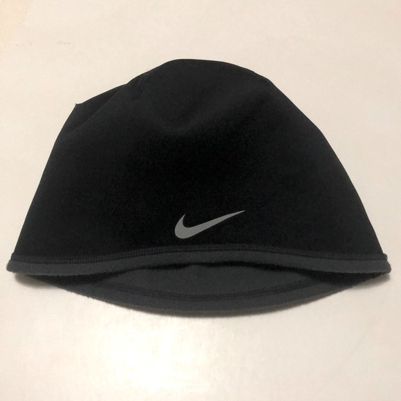 Nike Black Reflective Running Fleece Beanie